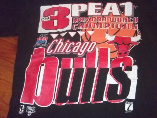 Chicago Bulls 1993 3PEAT shirt