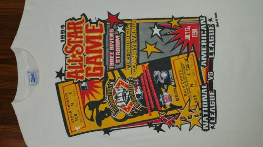 Vintage 1994 MLB All Star Game Pittsburgh Tee. Size XL