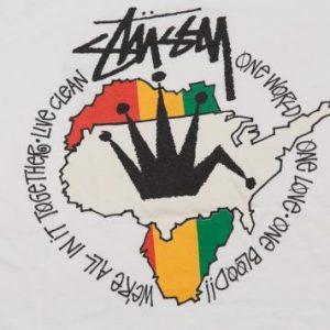 90'S STUSSY RASTA IRIE SKATEBOARD VINTAGE T-SHIRT