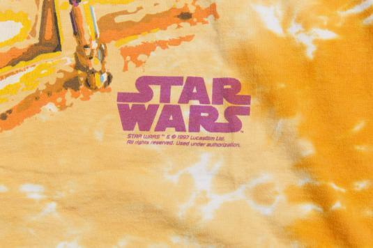 1997 STAR WARS R2D2 C3PO ALLOVER PRINT VINTAGE T-SHIRT