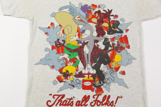 1995 LOONEY TUNES SPACE JAM BASKETBALL VINTAGE T-SHIRT