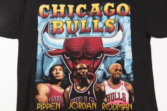 90'S CHICAGO BULLS NBA JORDAN PIPPEN RODMAN VINTAGE T-SHIRT