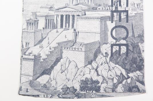90'S GREECE ROMAN ALLOVER PRINT VINTAGE T-SHIRT