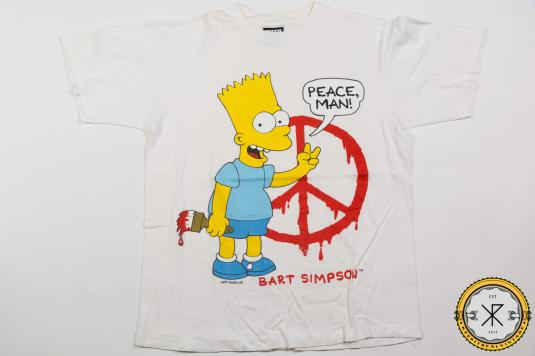 90'S BART SIMPSON PEACE CARTOON VINTAGE T-SHIRT
