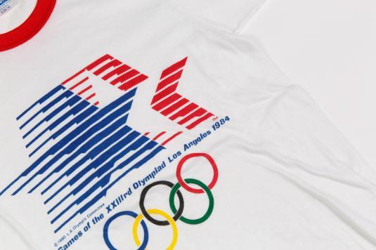 1984 OLYMPIC GAME USA RINGER VINTAGE T-SHIRT