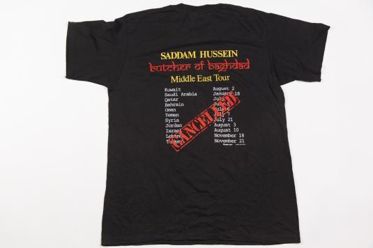 Saddam Hussein Middle East Tour Vintage T-Shirt