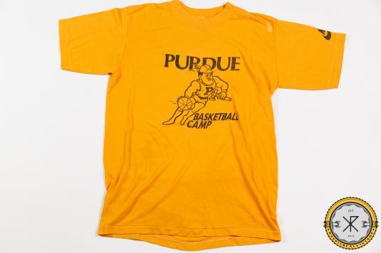 70'S ORANGE TAG NIKE PURDUE BASKETBALL CAMP VINTAGE T-SHIRT