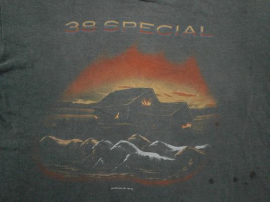 Vintage 80's 38 SPECIAL Tour-De-Force T-Shirt 1984 Concert