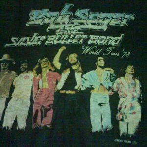 vintage BOB SEGER & THE SILVER BULLET BAND t-shirt 1978