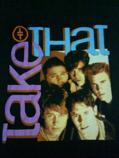 Take That Concert Tour T Shirt Vintage 1993