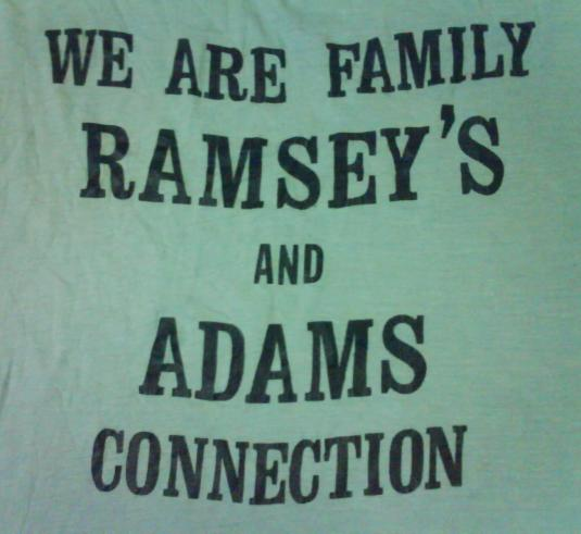 VINTAGE RAMSEY'S and ADAMS CONNECTION T-SHIRT 80S