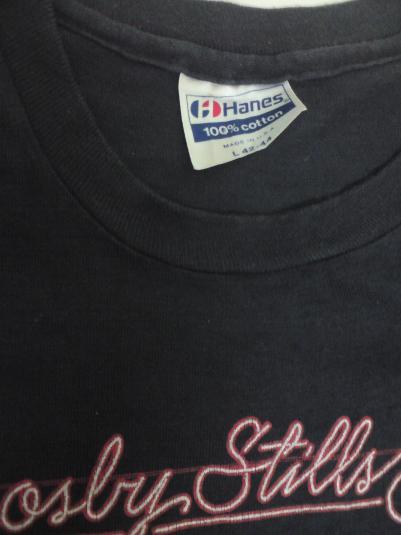 Vintage Crosby Stills Nash Concert T Shirt 87 Tour L