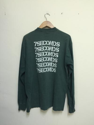 Vintage 90s 7 Seconds Band Tshirt