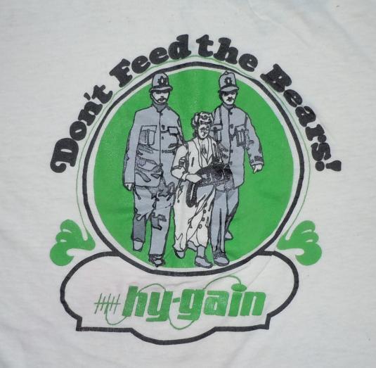 Vintage 1970's 70s Hy-Gain trucker antenna anti-police Shirt