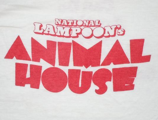 Vintage 1978 70s Animal House John Belushi Movie Promo Shirt