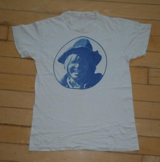 Rare 1970's 70's John Denver photo print folk rock Shirt