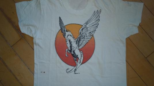 Vintage 1973 William Stout Comic Fantasy Art PEGASUS Shirt