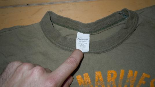 Rare Vintage 1970's 70's US Marines USMC Military T-Shirt