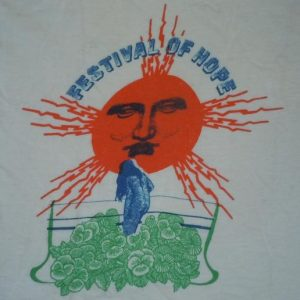 Vintage 1970's 70's 1972 Festival of Hope Rock Concert Shirt