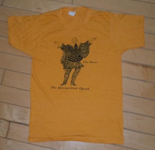 Vintage 1970's The Metropolitan Opera Tenor Print T-shirt
