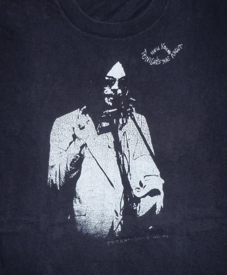 RARE Vintage 1975 Neil Young Tonight's The Night Album Shirt