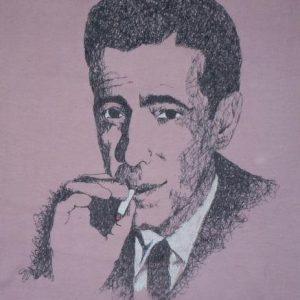 Vintage 1970's 70's Humphrey Bogart Classic Film Noir Shirt