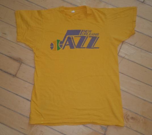 Vintage 1970s 70s New Orleans Jazz Utah NBA Basketball Shirt