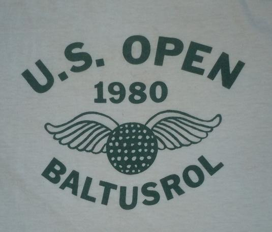 Vintage 1980 80s US Open Golf Major JACK NICKLAUS T-Shirt