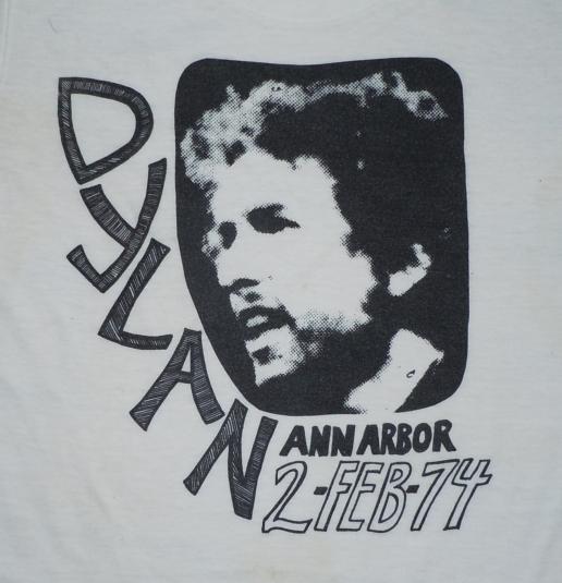 Vintage 1970s 1974 Bob Dylan The Band Concert Tour T-Shirt