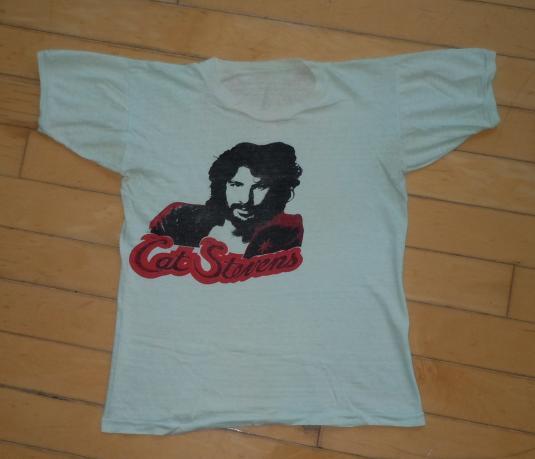 Vintage 1970's 70's Cat Stevens Yusuf Islam Folk Rock Shirt