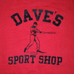 RARE Vintage 1930's 30's Sporting Good Store BASEBALL shirt