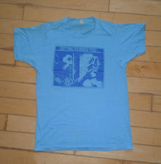 Vintage 1980s 80s Star Trek Spock & Kirk Sci-Fi TV T-Shirt
