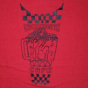 Vintage 1950's 50's Checkmate Cafe Pin Up Route 66 Shirt