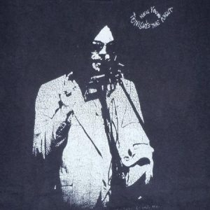 RARE Vintage 1975 Neil Young Tonight's The Night Album Shirt