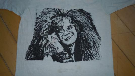 Vintage 1970s JIMI HENDRIX & JANIS JOPLIN fantasy rock shirt