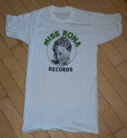 Vintage 1970's 70's Miss Rona Records Rona Barrett T-shirt
