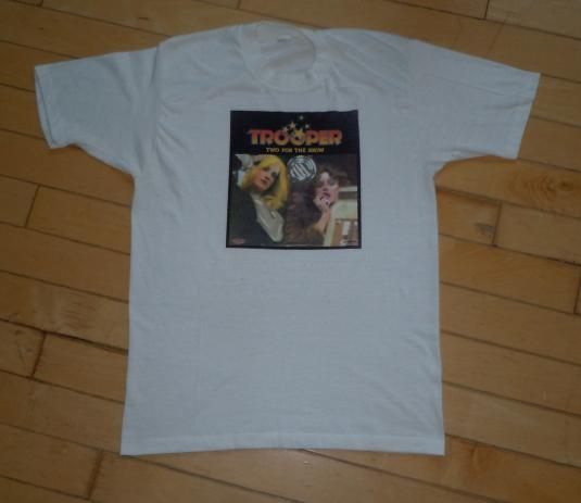 Vintage 70s 1976 Trooper Two for the Show Album Promo Shirt