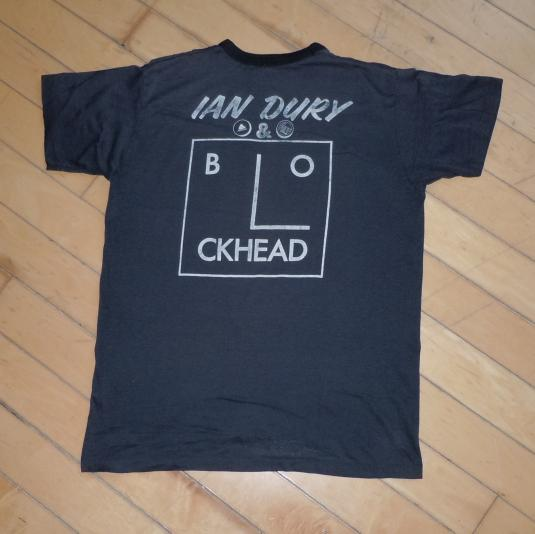 Vintage 1977 Ian Drury & The Blockheads Album Promo Shirt