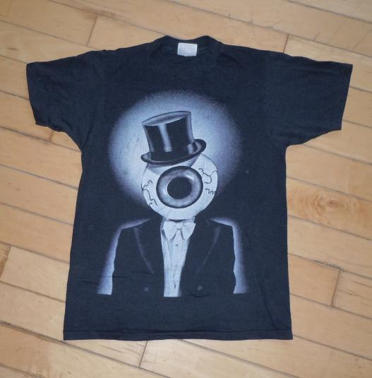 Vintage 1980's 80's The Residents Eyeball in Top Hat Shirt