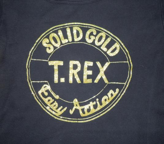 Vintage 1972 Marc Bolan T Rex Solid Gold Easy Action Shirt