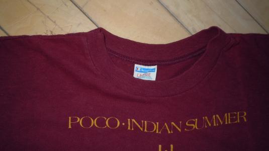 Vintage 1977 POCO Indian Summer country rock album T-Shirt