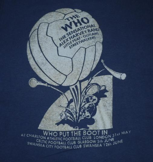 Vintage 1976 THE WHO Put The Boot In Rock Concert Tour Shirt