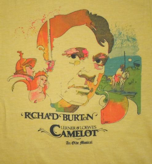 Vintage 1980 80s Camelot Musical Richard Burton Shirt