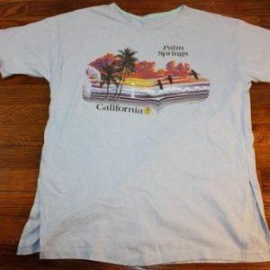 L * vintage 80s 1982 PALM SPRINGS CALIFORNIA t-shirt *
