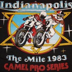 M * NOS vintage 80s 1983 INDIANAPOLIS motorcycle CAMEL