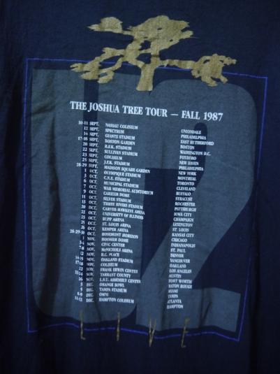 1987 U2 THE JOSHUA TREE Tour T-Shirt
