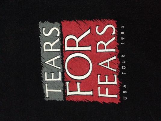 Vintage 1985 Tears For Fears USA Tour Sleeveless Shirt