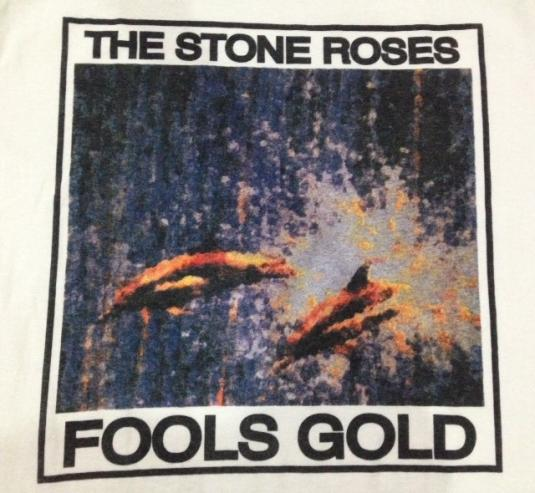 Vintage 1989 1991 The Stone Roses Fools Gold T-Shirt