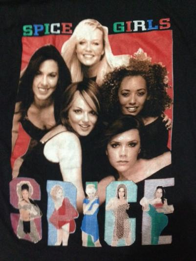 Vintage 1997 Spice Girls Spice World Tour T-Shirt 90s