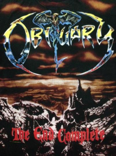Vintage 1993 Obituary The End Complete All Over T-Shirt XL/L